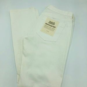 J Crew white denim